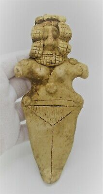 Circa 1180 - 700 Bce Ancient Syro-Hittite Terracotta Fertility Figure Worshipper
