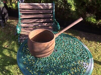 Old antique  Cast Iron  Pot  with handle Over 100 Yrs Old