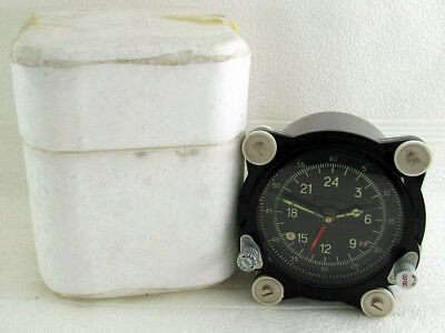 129-ChS 55M Vintage USSR Aircrafts TU-134 MIG-29 Helicopter MI-9 Panel Clock NEW