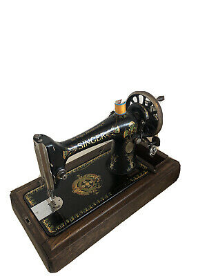 Antique Singer Sewing Machine Model 66 Hand Crank 1909