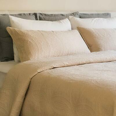 Mezzati Bedspread Coverlet Set Beige – Prestige Collection - Comforter Bedding C