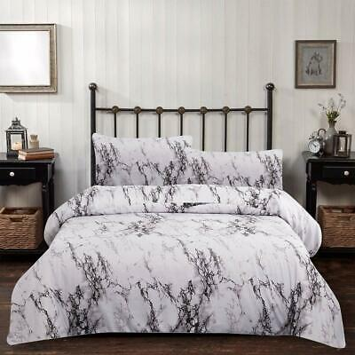 Marble Comforter Set Twin Gray White Marble Printed Bedding Solid Comforter for