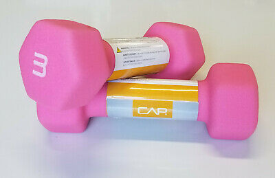 CAP Neoprene Hex Dumbbell 3Lb PAIR 6 lbs total FREE SHIPPING!!! HOT PINK