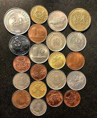 Old Singapore Coin Lot - 1967-Present - 21 Coins - Lot #J2