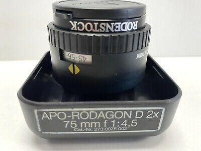 RODENSTOCK 75mm Apo-Rodagon-D 2X 75mm f4.5 Enlarging Lens  EXC++