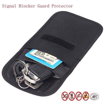AntiTheft Keyless Vehicle Anti Theft Radiation Key Fob Faraday Protection Bag