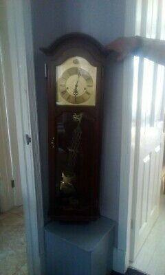 Vintage Tempus Fugit Long Case Wall Clock