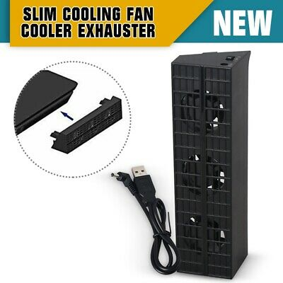 Cooling Fan External Turbo Temperature Control Cooler USB For PS4