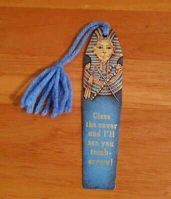 Antioch King Tut Bookmark With Tassel 1978 Made In USA