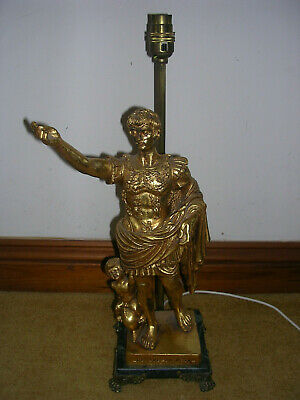 Antique 'Cesare Augusto' statue and lamp base