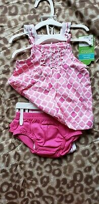 NWT Baby Girl 3pc set Carters Summer Dress Romper Outfit 3 Months