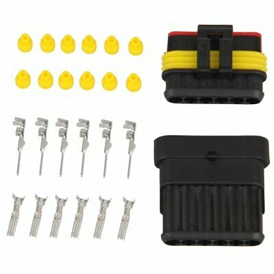 1X(Kit 6 Pins Impermeable Electrico Cable Conector Sellado Q8X2) GBN