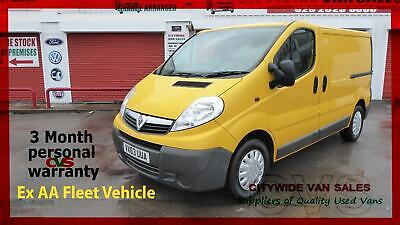 2013/63 VAUXHALL VIVARO 2.0CDTi 115ps 2900 SWB YELLOW CHEAP DIESEL NO VAT VAN