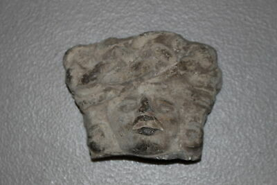 Antique Pre-Columbian Mayan Inca Aztec Pottery Head/Face Fragment-Artifact B