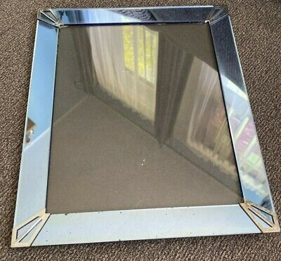 """Art Deco Style Picture Frame Mirror & Metal Vintage Look 10""""x 12"""" for-8x10 photo"""