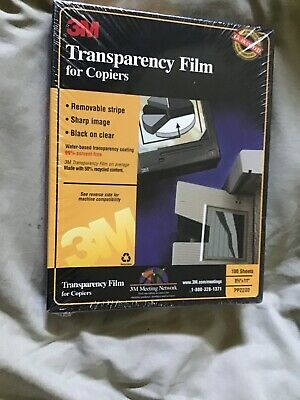 3M Transparency Film For Copiers 100 Sheets