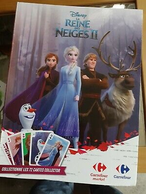 Lot Complet Album + 72 Cartes La Reine Des Neiges 2 Ii Carrefour Disney