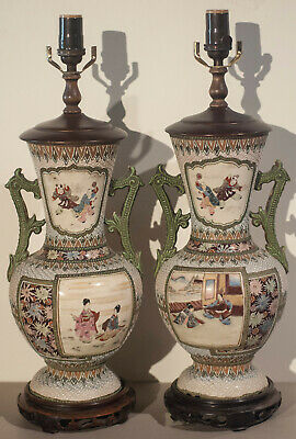 Japanese Finely Detailed Beautifully Preserved Antique Lamps -Exceptional!