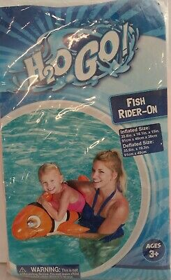 """Bestway Inflatable Blue Whale Rider-On 35.8/""""×18.1/""""×15/""""  Ages 3+ H2O GO"""