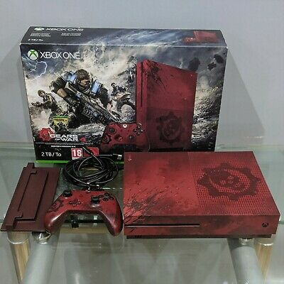 Microsoft Xbox One S Gears of War 4 Limited Edition Console 2TB Crimson Red