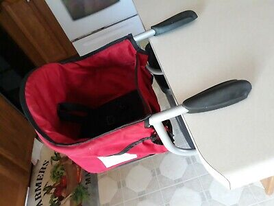 Chicco Caddy Portable Hook-On High Chair Baby Toddler Travel Red