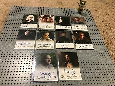 Game of Thrones 10 Auto Autograph Card Lot RICHARD GRANT GLOVER HARRY LLOYD