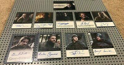 Game of Thrones 10 Auto Autograph Card Lot BELLA RAMSEY DANNY KIRRANE QUINN