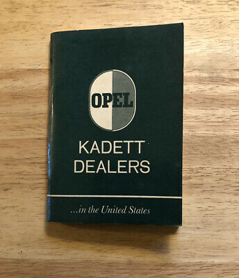 1967 Opel Kadett Dealers InThe United States Guide Book Manual