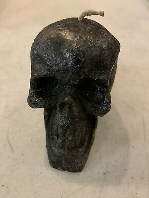Wax Candle Creepy Scary Pumpkin Skull Haunted Halloween Decoration Appx. 3 In.