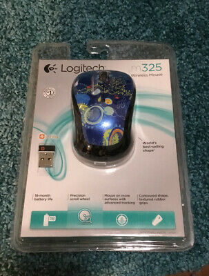 Logitech M325 Wireless Optical Mouse Blue Sky New Sealed Free Shipping