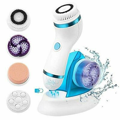 Facial Cleansing Brush Rechargeable Electric - Facial Cleaning Brush 4 In 1 B...