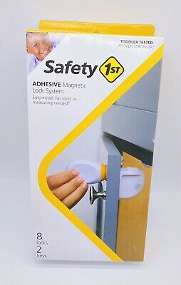 Safety 1st HS294 Adhesive Magnetic Safety Lock System 7 Locks 2 Keys Miss 1 Lock
