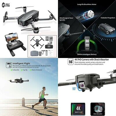 Holy Stone HS720 Foldable GPS Drone RC Super flying 5G 4K FHD   Wi-Fi Camera