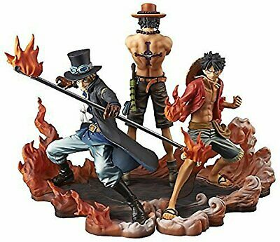 Bandai One Piece Anime Gasha Portraits 2 Figure Monkey Luffy Ace Sabo set 3 pcs
