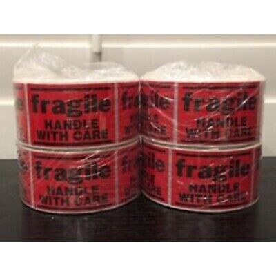 "2000 2x3"" **FRAGILE--Handle With Care** Sticker (4-Rolls 500 Labels)"