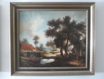 Grand Lot Peintures à l'huile ( +/- 40 pc/st) Groot Olies Lot * Oil paintings
