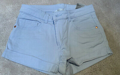 H&M Girls Pale Blue Shorts Age 10-11 Yrs, Vgc