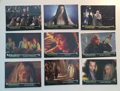 Lord Of The Rings 2001 9 Collector Cards Topps