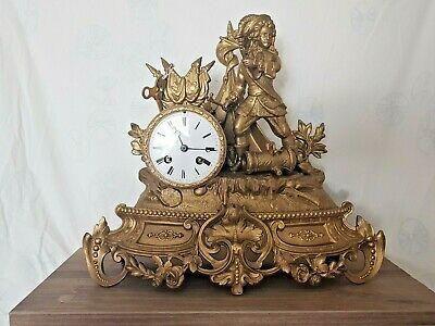 French Louis XVI gilded pendulum Mantle Clock -from 1820 fully working