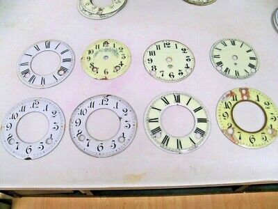 17 Antique Ansonia Porc Clock Dials Damaged + 2 Others