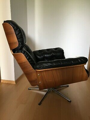 Eames inspirierter Lounge Chair mit Hocker