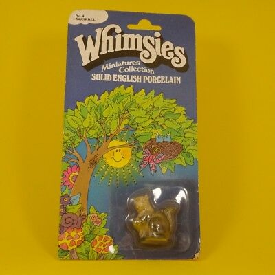 Wade Whimsies (1970's) Simons Associates - No #4 - Squirrel on Original Card