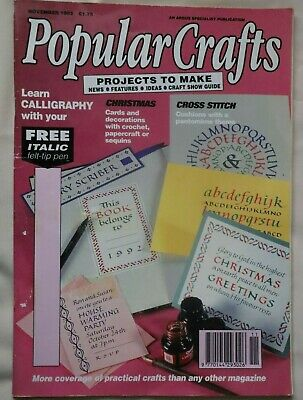 Popular Craft Magazine November 1992 with patterns in New condition