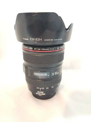 Canon EF 24–105mm F4 L IS USM, Hood, Caps, Variable ND, Circ Polarizer, & Bag