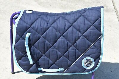 Fei Alltech Equitehem jeux equestres jumping saddle pad navy