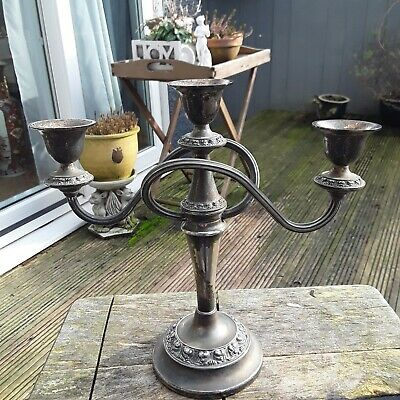 Vintage Silver Plated Candlestick