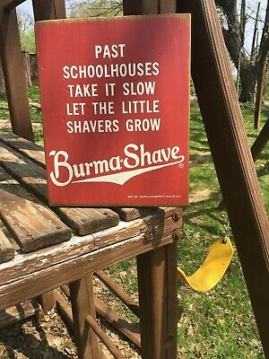 Burma-Shave (Burma Shave) wooden advertising sign 11X13 inch collectible