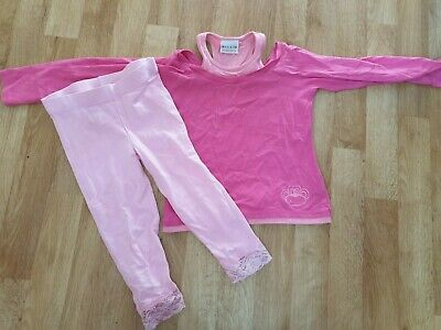 Next & Girl 2 Girl Pink Leggings and Top - Aged 6 Years