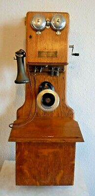 Kellogg Switchboard and Supply Company Two Box Wooden Wall Antique Telephone
