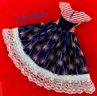 OOAK Independence Day Handmade Dress FITS Barbie Vintage,Silkstone,Reproduction